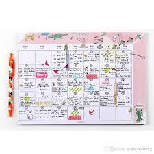 Agenda Office 2019 2018 New Kawaii Office Personal Time Organizer Notebook