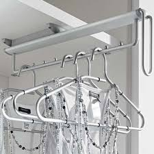 Pull Out Coat Rack Awesome Pullout Clothes Hanger Rail Under Mounted Amazoncouk Kitchen