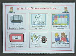 Details About When I Cant Concentrate Chart Adhd Autism Sen Visual Aids Dementia Alzheimers