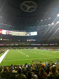 Mercedes Benz Superdome Section 130 Home Of New Orleans Saints