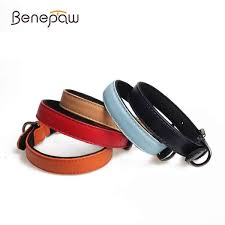 senarai harga benepaw leather pet dog collar 5 colors hot puppy collar all season pet