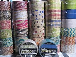Duct Tape Patterns Custom Fashion Burlap Duct Tape Patterns You Choose The Rolls Duck Tape