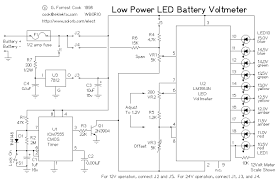 low power led voltmeter led and light circuit circuit diagram low power led voltmeter