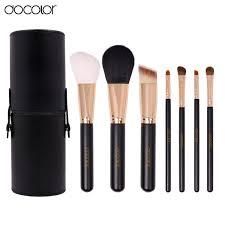 7 pieces makeup brush set black da0702