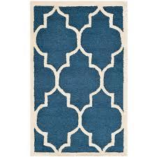 safavieh cambridge navy ivory 12 ft x 16 ft area rug