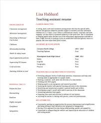 cv teaching assistant teacher assistant resume 9 free pdf document download free