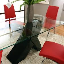 Table Top Glass Table Top Rectangular With Black Base Topper