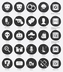 Film Genres Set Of Online Cinema Icon And Film Genres Icon In Flat Design