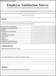 Satisfaction Survey Template Great Simple Survey Form Template