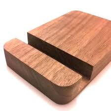 wood iphone dock custom made handcrafted dock wooden phone dock stand holder single phone or tablet