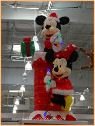 lowes outdoor christmas yard decorations lighted mickey mouse christmas decorations
