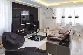 Apartment Living Room Renovation Ideas With Modern And Luxury Small Furniture Design Cool Black Cabinet Tv Stinless Cover For Hanging