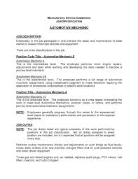 Mechanic Resume Auto Technician Job Description Best Automotive Technician Resume 50