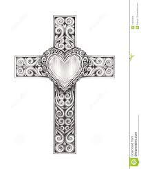 Cross Art Design Art Heart Mix Vintage Cross Stock Illustration