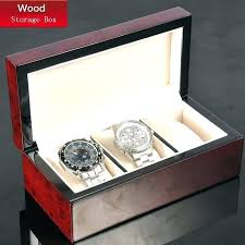 watch jewelry box 3 slots wood storage red mechanical new women case wooden package gift display