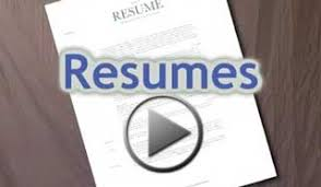 sample resumes by major video resume sample