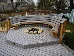 unique fire pit on wood deck safety elegant recessed gas fireplaces for