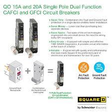 square d qo 20 amp single pole dual function cafci and gfci info guides
