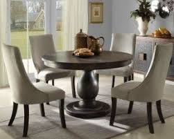 dining room tables with upholstered chairs. solid pedestal round table with upholstered chairs | dining room tables e
