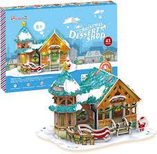 <b>CubicFun</b> 3D Пазл <b>Рождественский домик</b> 3 с подсветкой ...