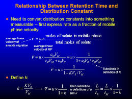 relationship between retention time and distribution constant