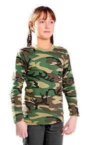 <b>Фуфайка футболка</b> с длинным рукавом детская камуфляж ...
