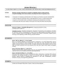 Intern Resume Objective Example Resumes Gregory L Pittman Architect