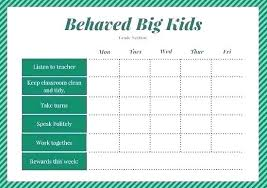 Conduct Chart Printable Good Behavior Chart Template Best Of Reward Printable Free