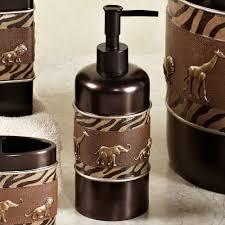 Brown Bathroom Accessories Animal Parade Safari Bath Accessories