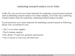 marketing research analyst cover letter market research analyst resume sample