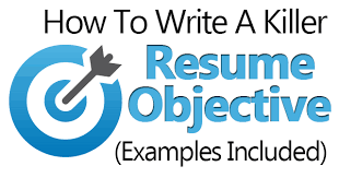 Generic Objective For Resume How To Write A Killer Resume Objective Examples Included 63