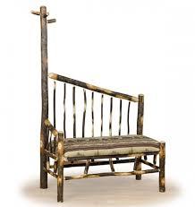 Log Coat Racks Log Bench with Coat Rack Rustic Bench Log Cabin Furniture 11
