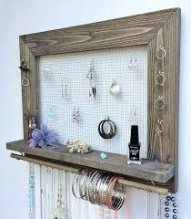 diy necklace holder picture frame jewelry holder free large wood wall hanging display necklace earring