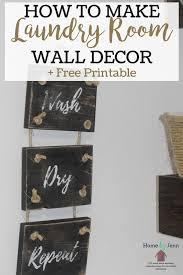 how to make diy laundry room decor