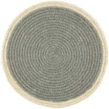 grey round jute braided placemats