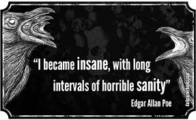 "i became insane long intervals of horrible sanity "" edgar  ""i became insane long intervals of horrible sanity "" edgar allan"