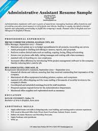 Administrative Support Resume Samples 15 Assistant Sample