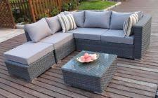 yakoe conservatory 5 seater rattan corner sofa set garden furniture with er