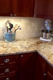 genial kitchen tile backsplash ideas with granite countertops cherry cabinets neutral
