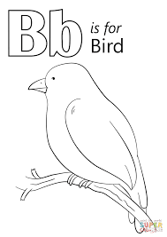 Small Picture Letter B is for Bird coloring page Free Printable Coloring Pages