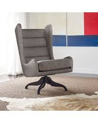 gray wingback chair. Tommy Hilfiger Helios Swivel Wingback Chair In Grey Gray