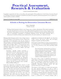 Pdf A Guide To Writing The Dissertation Literature Review