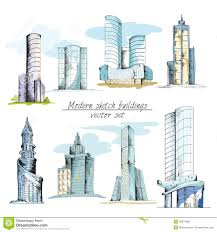 architectural building sketches. Modern Sketch Buildings Colored Architectural Building Sketches E