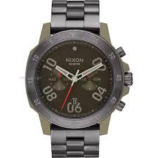 "nixon watches uk men s ladies watch shop comâ""¢ mens nixon the ranger chrono chronograph watch a549 2220"