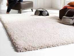 big white fluffy rug