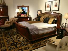 thomasville aberdare queen also have king leather sleigh bed 46211 595