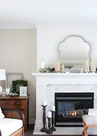 mantel decorating ideas come see how i transformed our white and marble fireplace in