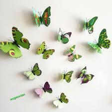 3d Butterfly Wall Decor 12pcs 3d Pvc Butterflies Diy Butterfly Art Decal Home Decor Wall