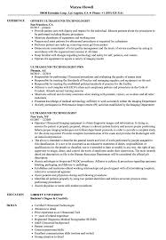 Medical Technologist Resume Sample Ultrasound Technologist Resume Samples Velvet Jobs 78