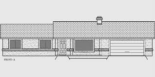 house front color elevation view for 10017wd one story house plans ranch house plans